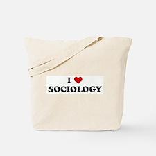 I Love SOCIOLOGY Tote Bag