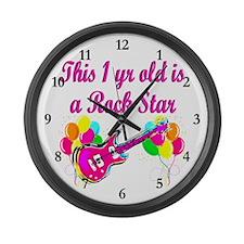 ROCKING 1 YR OLD Large Wall Clock
