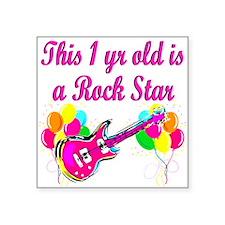 "ROCKING 1 YR OLD Square Sticker 3"" x 3"""