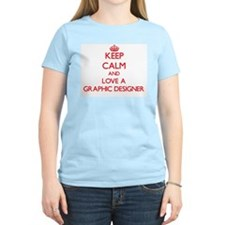 Keep Calm and Love a Graphic Designer T-Shirt