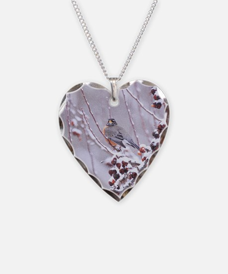 A Warrior At Heart Robin Necklace Heart Charm