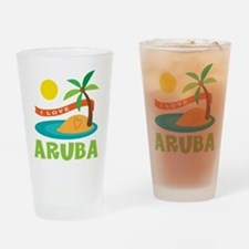 I Love Aruba Drinking Glass