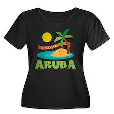 I Love Aruba Plus Size T-Shirt