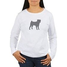 pug gray 1 Long Sleeve T-Shirt