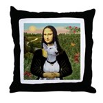 Mona's Bull Terrier Throw Pillow