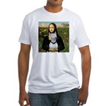 Mona's Bull Terrier Fitted T-Shirt