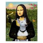 Mona's Bull Terrier Small Poster