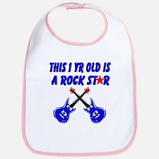 1 YR OLD ROCK STAR Bib