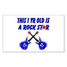 1 YR OLD ROCK STAR Decal