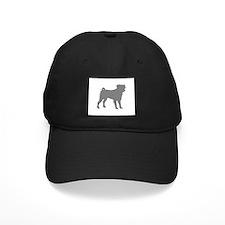 pug gray 1C Baseball Hat
