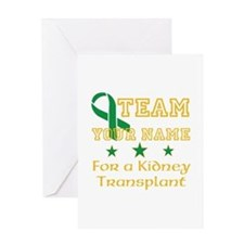 Personalize team Kidney Greeting Card