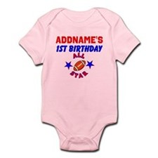 1 YR OLD FOOTBALL Infant Bodysuit