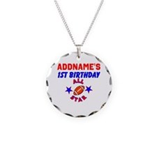 1 YR OLD FOOTBALL Necklace Circle Charm