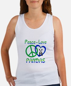 Peace Love Pandas Women's Tank Top