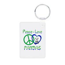Peace Love Pandas Keychains