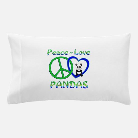 Peace Love Pandas Pillow Case