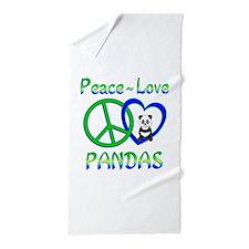 Peace Love Pandas Beach Towel