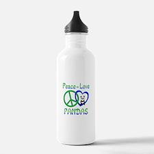 Peace Love Pandas Water Bottle