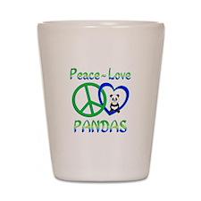 Peace Love Pandas Shot Glass