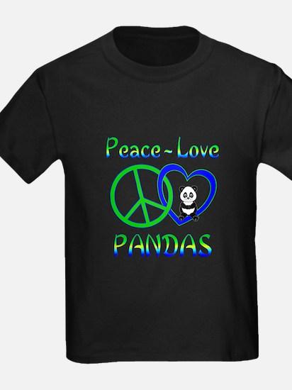 Peace Love Pandas T