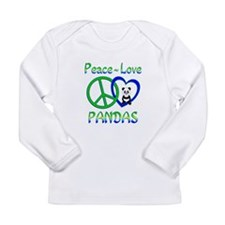 Peace Love Pandas Long Sleeve Infant T-Shirt