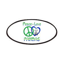Peace Love Pandas Patches