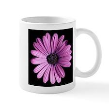 Beatiful Purple Daisy On Black Mugs