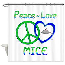 Peace Love Mice Shower Curtain