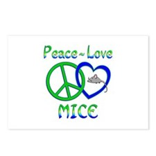 Peace Love Mice Postcards (Package of 8)