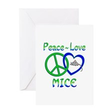Peace Love Mice Greeting Card