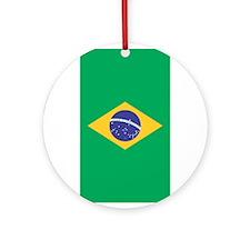 Brazilian Flag Ornament (Round)