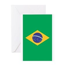 Brazilian Flag Greeting Cards