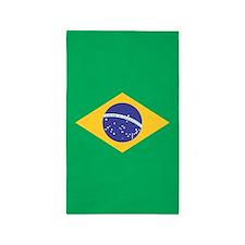Brazilian Flag 3'x5' Area Rug
