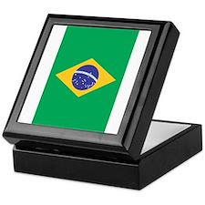 Brazilian Flag Keepsake Box