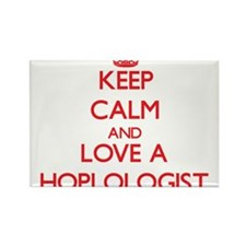 Keep Calm and Love a Hoplologist Magnets