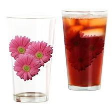Pink Gerber Daisy Drinking Glass