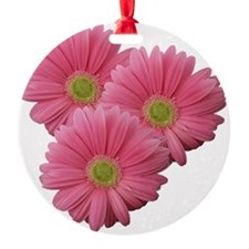 Pink Gerber Daisy Ornament