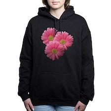 Pink Gerber Daisy Hooded Sweatshirt