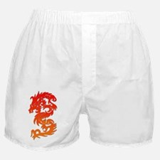 Orange Red Asian Dragon Tattoo Design Boxer Shorts