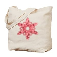 Red Glow Snowflake Tote Bag