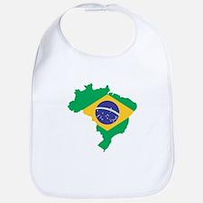 Brazilian Flag Map Bib