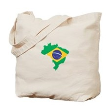 Brazilian Flag Map Tote Bag
