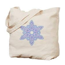 Ice Glow Snowflake Tote Bag
