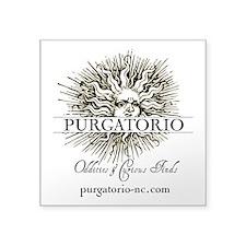 """Purgatorio Logo W Url Square Sticker 3"""" X 3"""""""