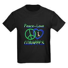 Peace Love Giraffes T