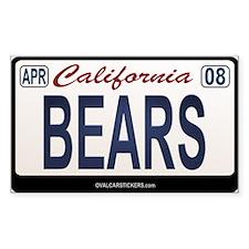 California Licanse Plate Sticker - BEARS