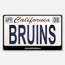 California License Plate Sticker - BRUINS