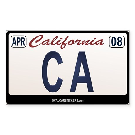California License Plate Sticker - CA