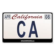 California License Plate Sticker - CA