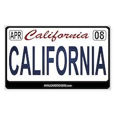 California License Plate Sticker - CALIFORNIA